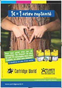 Cartridge World Fougères aide la reforestration