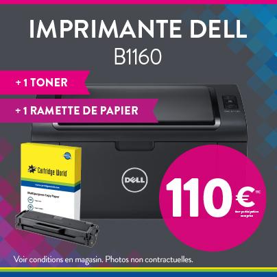 Imprimante Dell B1160 1 toner 1 ramette de papier - Cartridge World Fougères